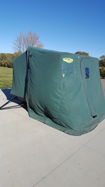Classifieds otter resort portable fish house for Otter fish houses