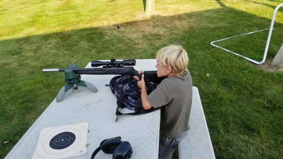 Took some extra time and had them out shooting suppressed .22. Damn they are growing up quick. 7 and 5 yr old handle the gun all by themselves after...