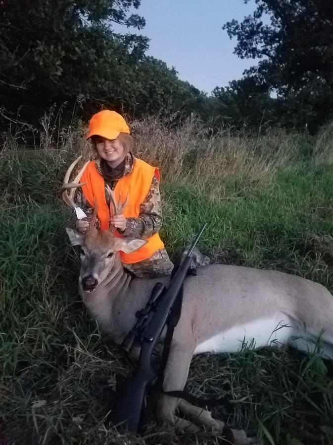 20190919 200121  Gage's 1st buck! Youth season 2019. She was able to take this unique buck we had saw a few times and everything finally came...